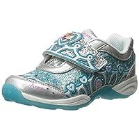 Stride Rite Disney Fashion Sneaker for Girls - Blue & Silver 7 US