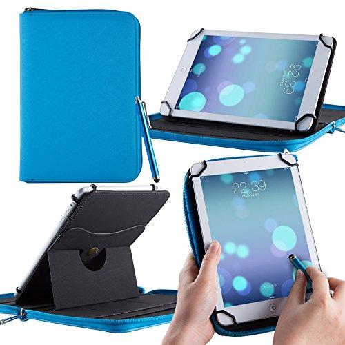 Casezilla Hartschalen Universelle 360 Grad umschließende PU-Lederhülle für Amazon Kindle Fire Hd 7 - Blau (Kids Fire Hd 7 Screen Protector)