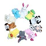 Edealing Dito di animale Puppets peluche Bambola Di Stoffa educativi del bambino a mano giocattolo Kid confezione casuale di 10
