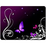Meffort Inc Gaming Mouse Pad XL Mat - Dark Purple Butterfly