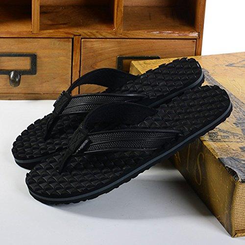 Estate Sandali Pantofole massaggi confortevoli antisdrucciolevoli maschili Pattini da spiaggia casuali maschi e femmine esterni (bianchi, neri, rossi) Colore / formato facoltativo Nero
