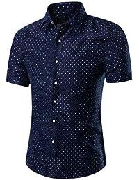 664a5abe26da5 2018 Moda para Hombre De Manga Corta Camisa Floral Hawaiana Summer Casual  Tops Botón Abajo Camisa