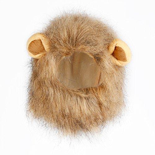 MYTK Pet Costume, Lion Mane Wig for Little Dog and Cat, Halloween Christmas Easter Dress up