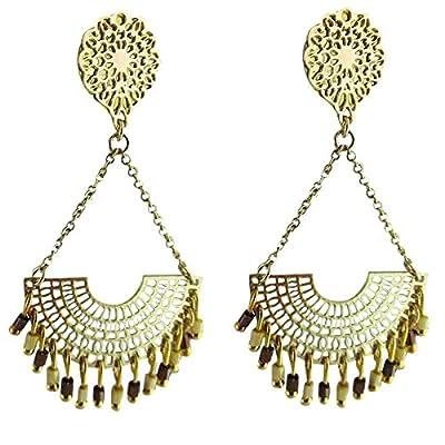 Boucles d'oreilles à clips Bérénice dorées