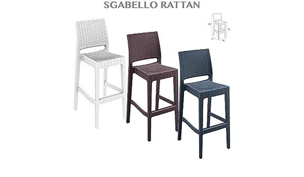 Sgabello da giardino in rattan impermeabile sedia arredamento