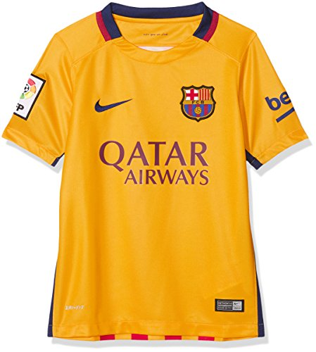 Brand new, official Barcelona Kids Away shirtfor the 2015-2016 La Liga season. This authentic football kit is available in junior sizes small boys, medium boys, large boys, XL boys and is manufactured by Nike.Customise your FC Barcelona Football ...