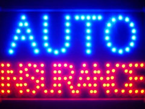 LAMPE NEON ENSEIGNE LUMINEUSE LED led137-b Auto Car Insurance Led Neon Sign WhiteBoard