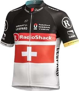 Craft Men's Radioshack Nissan Team Replica Elite Bike Swiss  Jersey  - Black, Medium