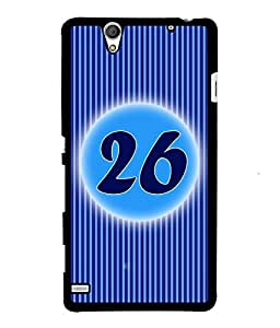 Fuson 2D Printed Numerology Designer back case cover for Sony Xperia C4 - D4246