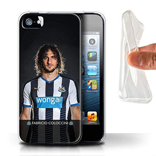 Officiel Newcastle United FC Coque / Etui Gel TPU pour Apple iPhone SE / De Jong Design / NUFC Joueur Football 15/16 Collection Coloccini