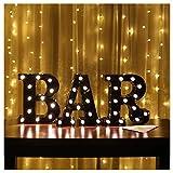 Vimlits Dekoratives Licht in Form der Buchstaben BAR New Bar