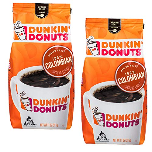 Dunkin Donuts Kolumbianische gemahlener Kaffee - (Pro Beutel 2 Packung) - Medium Roast Kolumbien Kaffee, 311 g (11 oz., Columbian Ground Coffee)