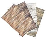#6: Ella Bella Photography Backdrop Paper 4-feet by 12-feet 4 Assorted Wood Designs