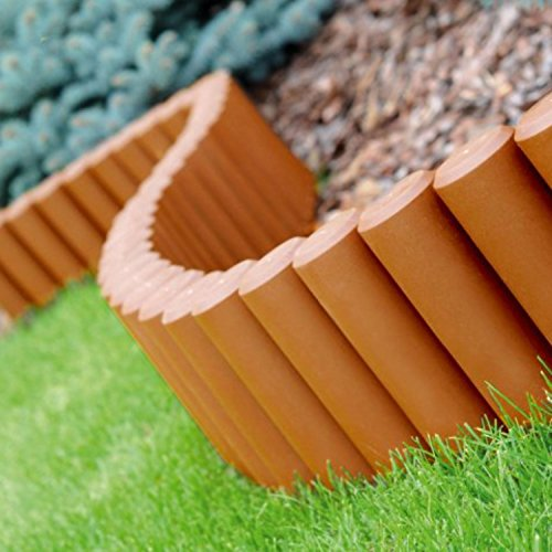 Parkland® Palisade Rasenkante Anlage Bordüre Weg Garten-Zaun, Kunststoff