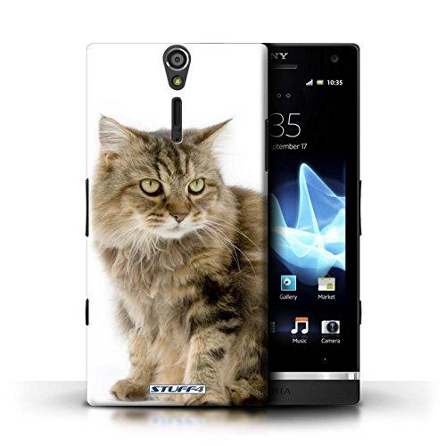 Kobalt® Imprimé Etui / Coque pour Sony Xperia S/LT26i / American Shorthair conception / Série Espèces de chats Gueux