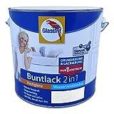 Glasurit Buntlack 2in1 Wasserverdünnbar Hochglanz - 500ml (Tiefblau)