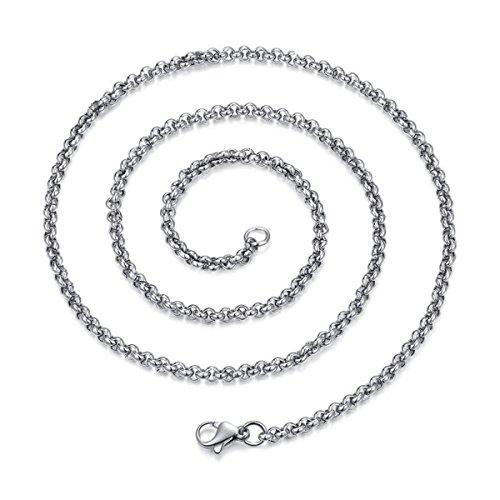 BESTOYARD 3MM Titan Stahl Halskette Delicate Silber Kette Fashion Halskette Ketten für Männer