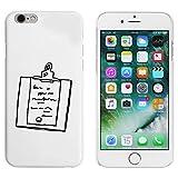 Blanc 'Presse-Papiers' étui / housse pour iPhone 6 & 6s (MC00094819)