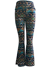 Impresión Pierna Ancha Estilo Étnico Modelada Floral Pantalón De Pierna Ancha Sueltos Pantalones 1843 S