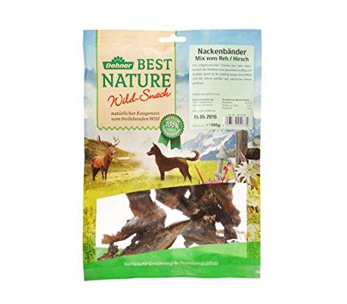 Dehner Best Nature Hundesnack, Nackenbänder von Reh und Hirsch, 100 g