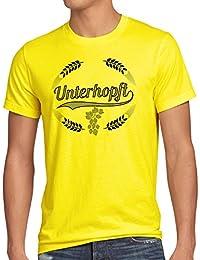 style3 Unterhopft Herren T-Shirt Kult Shirt Funshirt Bier Hopfen