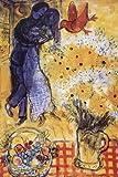 Marc Chagall – Die Verliebten Poster Drucken (60,96 x 91,44 cm)