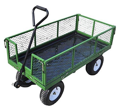 Turfmaster Handwagen Handkarren aus Metall, max. Nutzlast 454 kg | Stabil und vielseitig einsetzbar