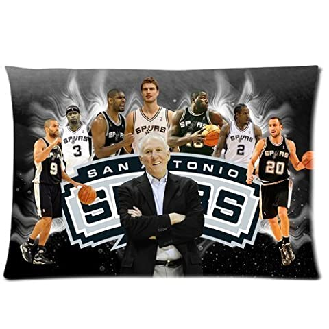 Bedroom Decor Custom San Antonio Spurs Pillowcase/Taies d'oreillers 16x24 two