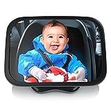 CSL - Rücksitzspiegel für Babys 23x16cm | Auto-Rückspiegel für die Babyschale | Sicherheitsspiegel | Verstellbare Träger/universale Form | splittersicher | Hoch- oder Querformat