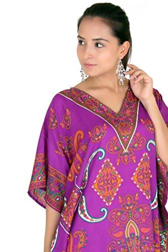 Miss Lavish - Robe - Kimono - Manches Longues - Femme multicolore Multicoloured Violet