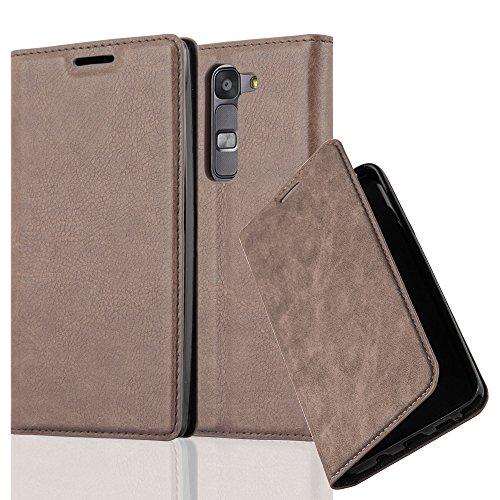 Cadorabo Hülle für LG G4C / G4 Mini/Magna - Hülle in Kaffee BRAUN – Handyhülle mit Magnetverschluss, Standfunktion und Kartenfach - Case Cover Schutzhülle Etui Tasche Book Klapp Style