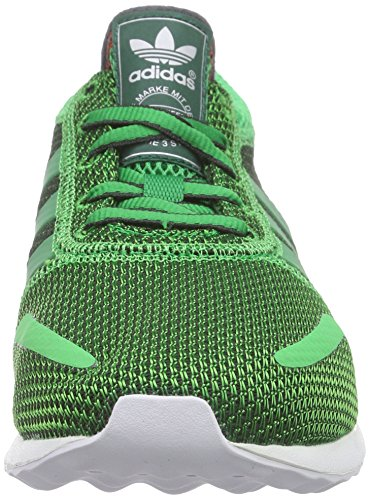 adidas Originals Los Angeles - Scarpe da Ginnastica Basse Unisex - Adulto Verde (Grün (Green/Green/Carbon S14))