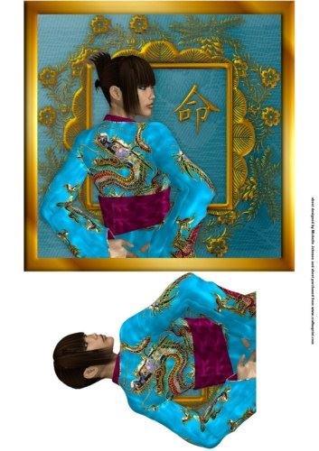 Michelle Johnson - Decoración mujer oriental dragón