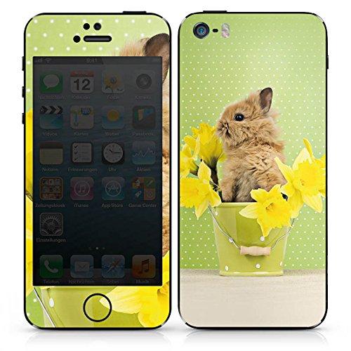 Apple iPhone SE Case Skin Sticker aus Vinyl-Folie Aufkleber Osterhase Hase Kaninchen DesignSkins® glänzend