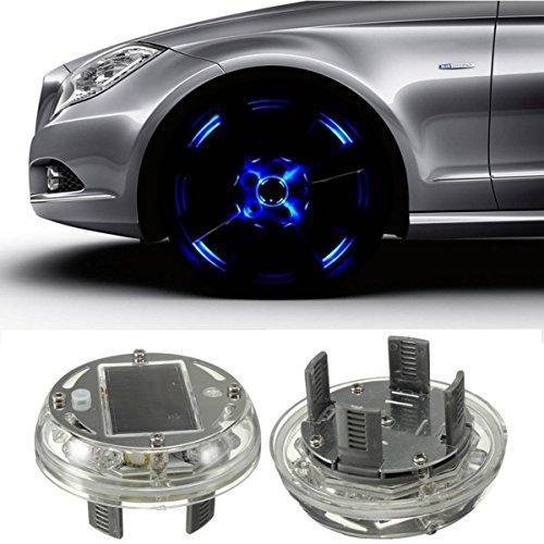 Preisvergleich Produktbild [4 Stücke] Eximtade Auto Autoreifen Reifenventil LED Licht Solarenergie Taschenlampe Dekoration Lampe