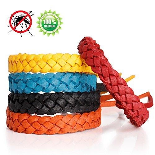Toozey Mückenschutz Armband, 5 Stück Mückenarmband für Erwachsene und Kinder, Anti Mücken Armband mit 360 Stunden Schutz Gegen Mücken, 100% Natürlich & Deet Frei, Moskito Armband für Indoor Outdoor
