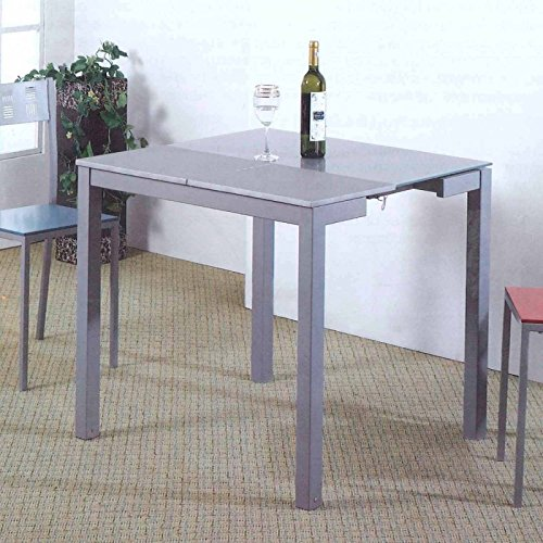 Mesa cocina extensible color gris