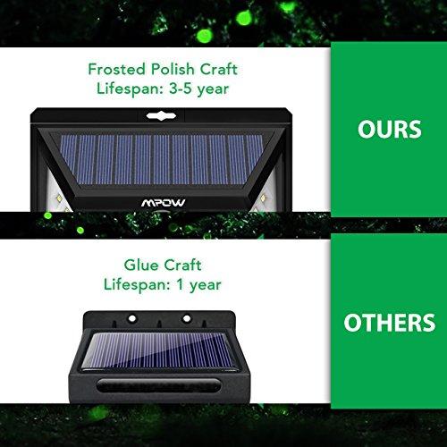 Mpow 24 LED Weitwinkel Solarleuchten, Bewegungs-Sensor-Licht für Garten - 3