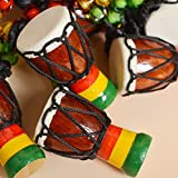 MINI Jambe Drummer Djembe Percussion Musical Instrument African Hand Drum For Children's Toys Or Neck Ornaments