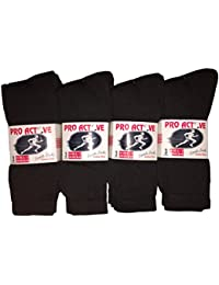 New Mens 12 Pairs COTTON Plain BLACK Sport Socks UK 6-11 EUR 39-45