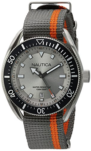 Nautica Men's Analog Japanese-Quartz Watch with Nylon Strap NAPPRF003