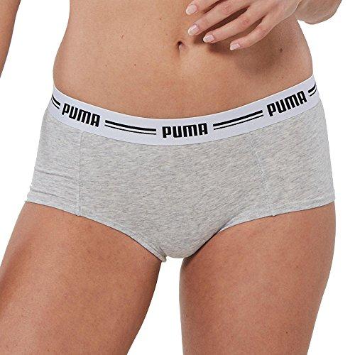 Puma Damen Iconic Mini Short 2P Unterwäsche, Grey, S