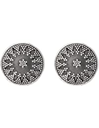 Ahilya Jewels Silver Stud Earrings for Women (Silver) (AER16456-00SNS)