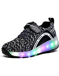 Unisex Schuhe mit Rollen Kinder Skateboard Schuhe Rollschuh Schuhe LED Light Wheels Sneakers Outdoor-Trainer für Junge Mädchen