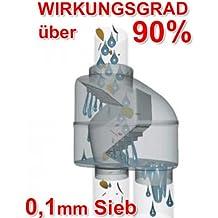 REGENSAMMLER FALLROHR-FILTER REGENTONNEN-FÜLLAUTOMAT Z 100 grau – Regenwasserfilter in selbstreinigender Bauart mit Edelstahl-Sieb und 100-125mm-Universal-Anschluss für REGENTONNEN REGENFÄSSER REGENWASSERBEHÄLTER