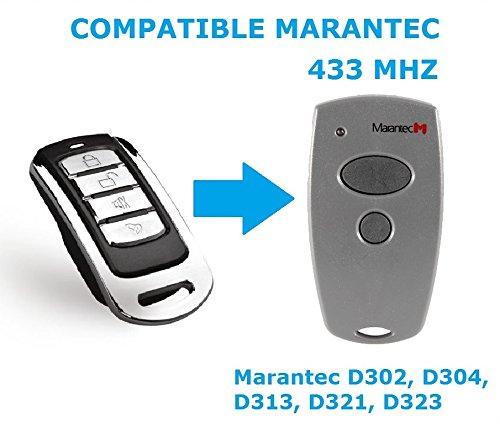 Mando garaje compatible con Marantec 433mhz D302...