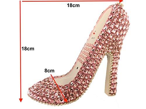 blingustyle Designer Funkelnde Kristall Diamante Bling Schuh Design Telefon für Home/Office und Geschenk Diamante Design