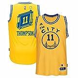 adidas Klay Thompson Golden State Warriors Hardwood Classics Swingman Jersey, Uomo, Gold