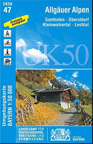 Allgäuer Alpen (UK50-47) (UK50 Umgebungskarte 1:50000 Bayern Topographische Karte Freizeitkarte Wanderkarte) - Topographische Wanderkarten