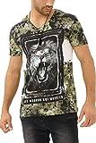 trueprodigy Casual Hombre Marca Camiseta Estampado Ropa Retro Vintage Rock Vestir Moda Cuell...